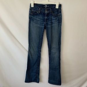 7 for all man kind bootcut blue denim jeans
